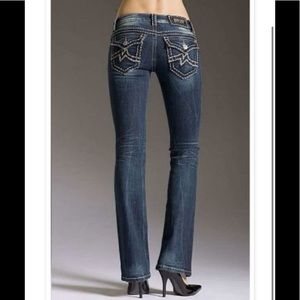 Miss Me Irene Boot flap pocket thick stitched jean